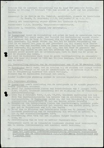 Putte: Notulen gemeenteraad, 1928-1996 1966-01-01