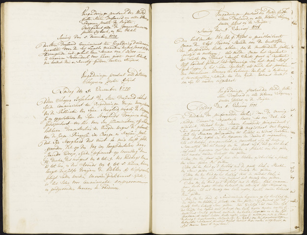 Roosendaal: Registers van resoluties, 1671-1673, 1675, 1677-1795 1771