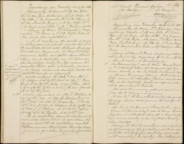 Roosendaal: Notulen gemeenteraad (besloten), 1851-1916 1891