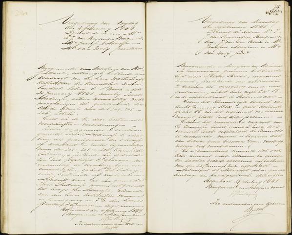 Roosendaal: Notulen van burgemeester en assessoren, 1827-1851 1848