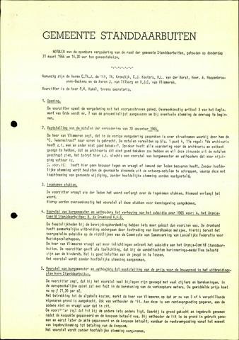 Standdaarbuiten: Notulen gemeenteraad, 1937-1996 1966-01-01
