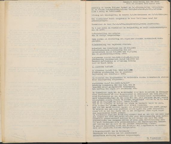 Ossendrecht: Notulen gemeenteraad, 1920-1996 1925