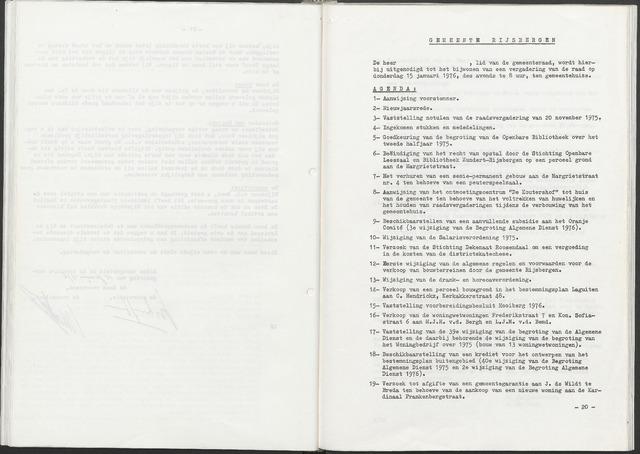 Rijsbergen: Notulen gemeenteraad, 1940-1996 1976