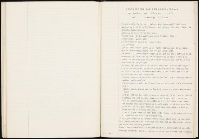 Fijnaart en Heijningen: notulen gemeenteraad, 1934-1995 1950