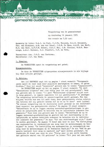 Oudenbosch: Notulen gemeenteraad, 1939-1994 1975-01-01