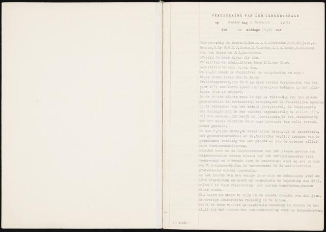 Fijnaart en Heijningen: notulen gemeenteraad, 1934-1995 1951