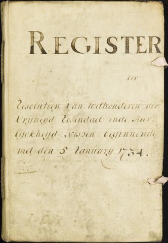 Roosendaal: Registers van resoluties, 1671-1673, 1675, 1677-1795 1734