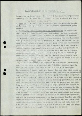 Rijsbergen: Notulen gemeenteraad, 1940-1996 1941