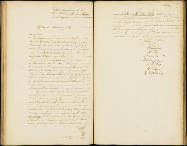 Wouw: Notulen gemeenteraad, 1813-1996 1850
