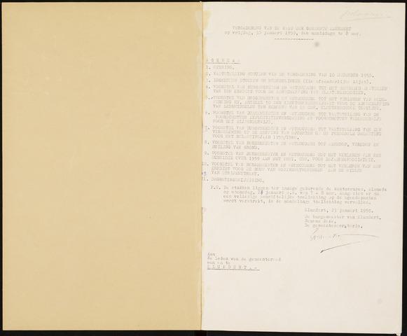 Klundert: Notulen gemeenteraad, mei 1933-1996 1959