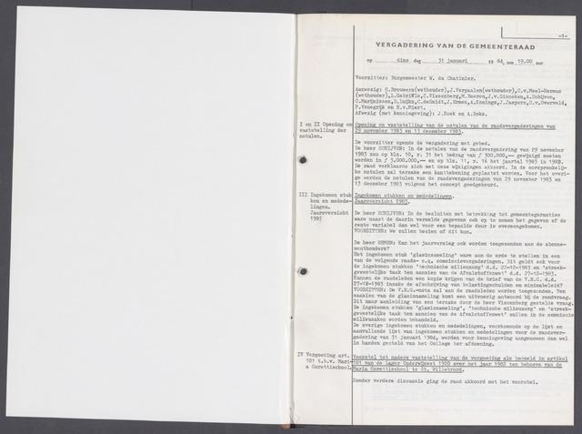 Rucphen: Notulen gemeenteraad, dec. 1949-1998 1984-01-01