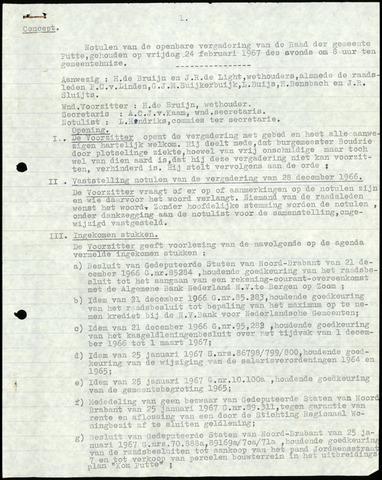 Putte: Notulen gemeenteraad, 1928-1996 1967-01-01
