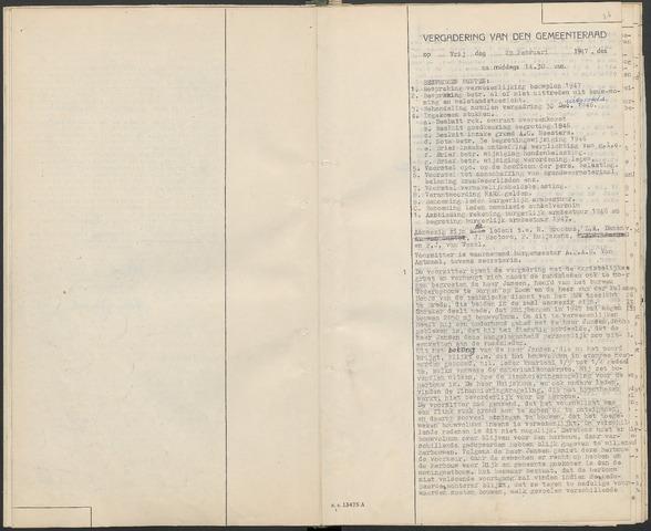 Huijbergen: Notulen gemeenteraad 1935-1996 1947-01-01