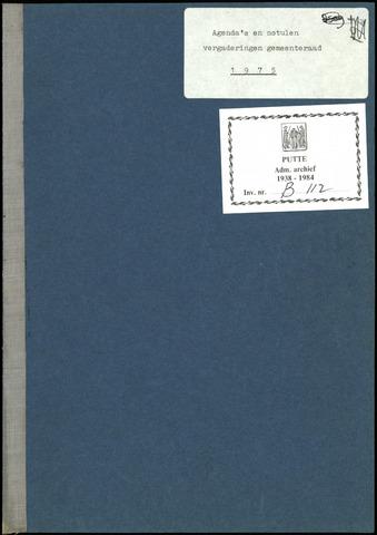 Putte: Notulen gemeenteraad, 1928-1996 1974-01-01