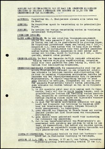 Rijsbergen: Notulen gemeenteraad, 1940-1996 1951
