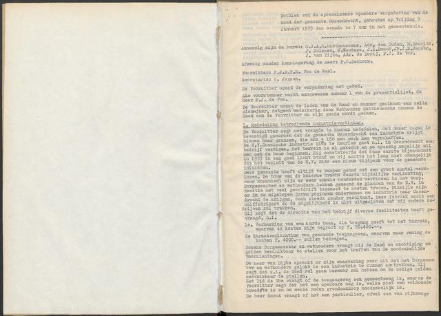 Ossendrecht: Notulen gemeenteraad, 1920-1996 1953