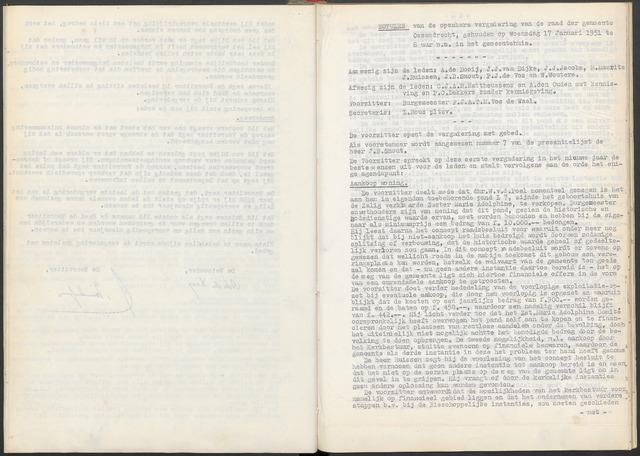 Ossendrecht: Notulen gemeenteraad, 1920-1996 1951