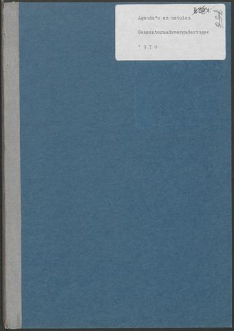 Putte: Notulen gemeenteraad, 1928-1996 1970-01-01