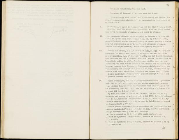 Hoeven: Notulen gemeenteraad, 1928-1996 1936-01-01