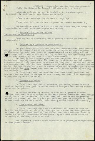 Putte: Notulen gemeenteraad, 1928-1996 1936-01-01