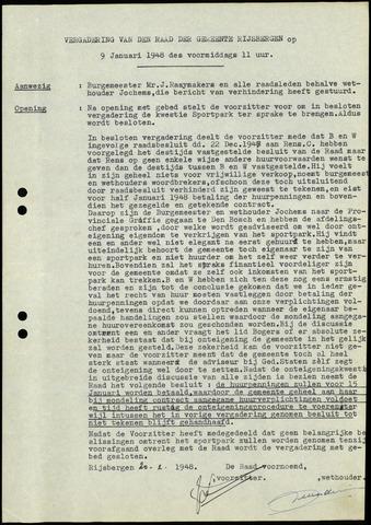 Rijsbergen: Notulen gemeenteraad, 1940-1996 1948