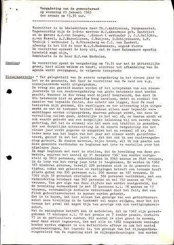 Oud en Nieuw Gastel: Notulen gemeenteraad, 1938-1980 1963-01-01