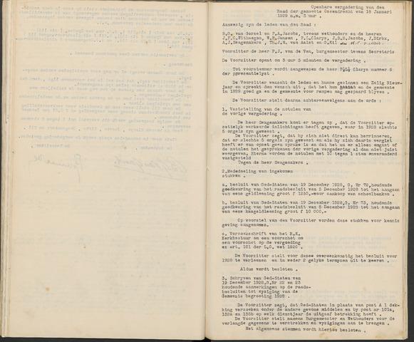 Ossendrecht: Notulen gemeenteraad, 1920-1996 1929