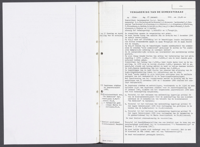 Rucphen: Notulen gemeenteraad, dec. 1949-1998 1981-01-01