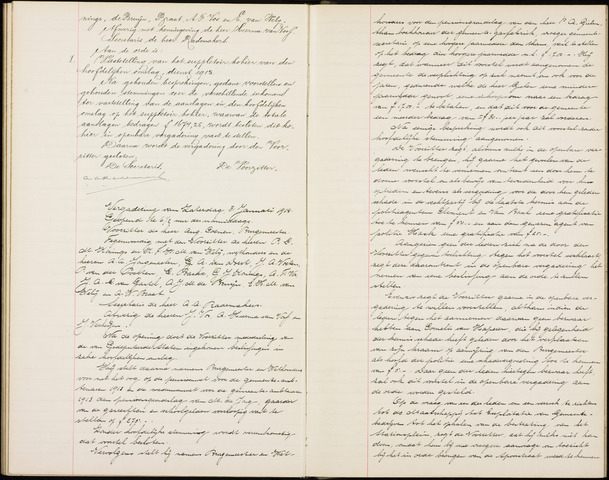 Roosendaal: Notulen gemeenteraad (besloten), 1851-1916 1914