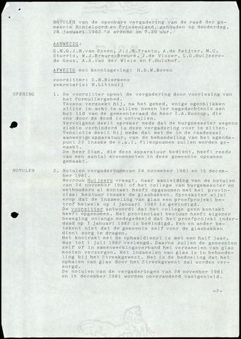 Dinteloord: Notulen gemeenteraad, 1946-1996 1982
