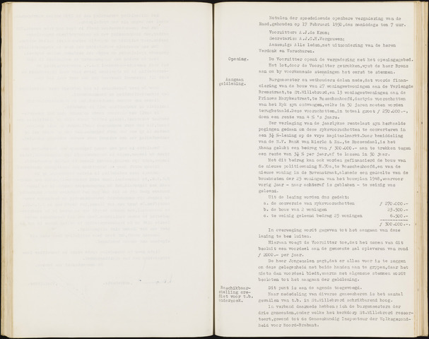 Hoeven: Notulen gemeenteraad, 1928-1996 1950-01-01