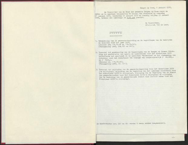 Bergen op Zoom: Notulen gemeenteraad, 1926-1996 1970-01-01