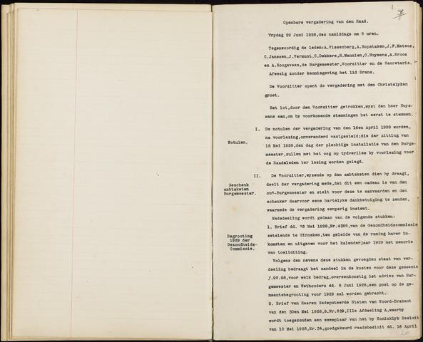 Hoeven: Notulen gemeenteraad, 1928-1996 1928-01-01
