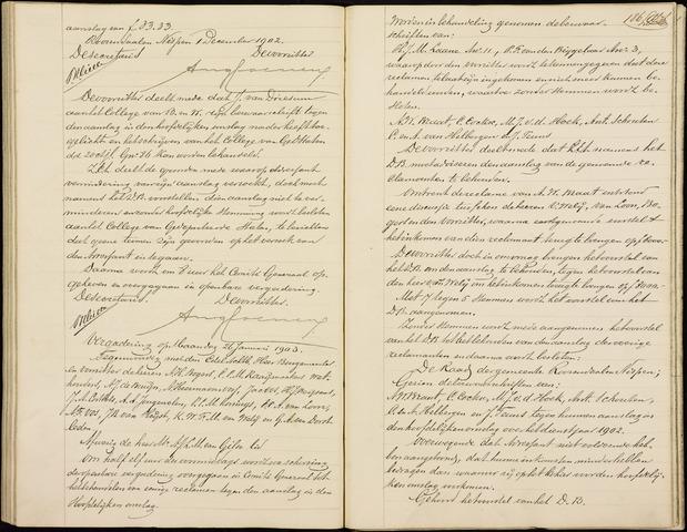 Roosendaal: Notulen gemeenteraad (besloten), 1851-1916 1903