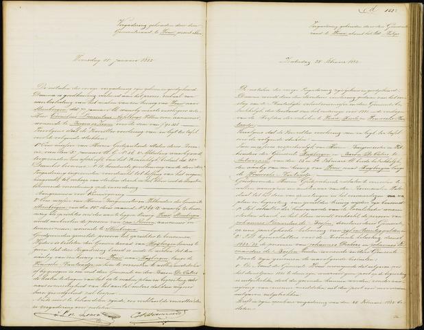 Wouw: Notulen gemeenteraad, 1813-1996 1882