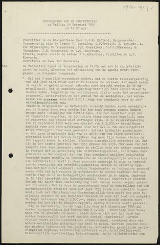 Oud en Nieuw Gastel: Notulen gemeenteraad, 1938-1980 1955-01-01