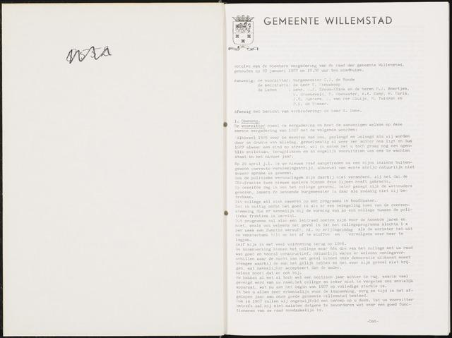 Willemstad: Notulen gemeenteraad, 1927-1995 1987-01-01