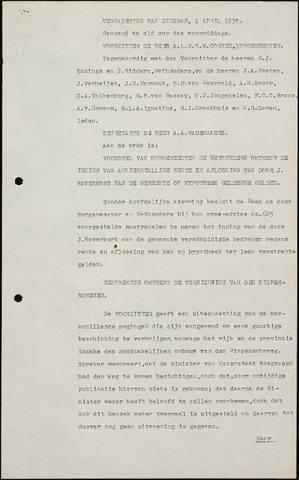 Roosendaal: Notulen gemeenteraad (besloten), 1919-1935 1930