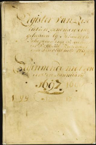 Roosendaal: Registers van resoluties, 1671-1673, 1675, 1677-1795 1697