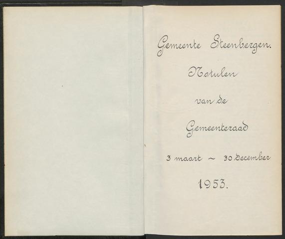 Steenbergen: Notulen gemeenteraad, 1920-1996 1953-01-01
