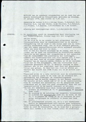 Dinteloord: Notulen gemeenteraad, 1946-1996 1978