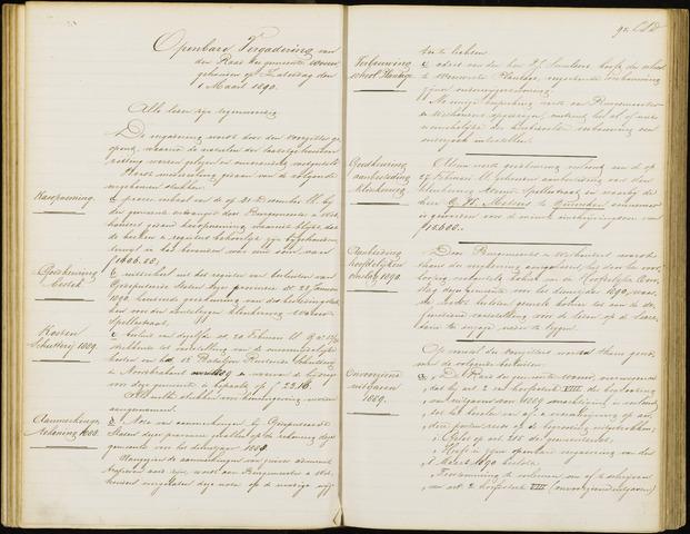 Wouw: Notulen gemeenteraad, 1813-1996 1890