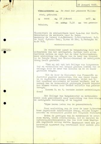 Willemstad: Notulen gemeenteraad, 1927-1995 1957-01-01