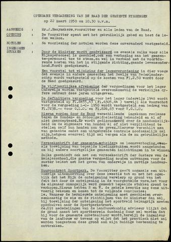 Rijsbergen: Notulen gemeenteraad, 1940-1996 1950