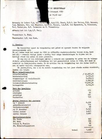 Oudenbosch: Notulen gemeenteraad, 1939-1994 1959-01-01