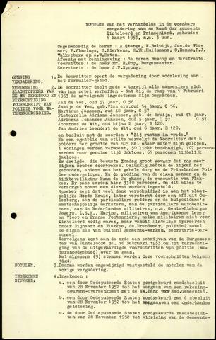 Dinteloord: Notulen gemeenteraad, 1946-1996 1953