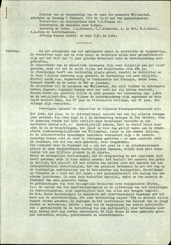 Willemstad: Notulen gemeenteraad, 1927-1995 1963-01-01