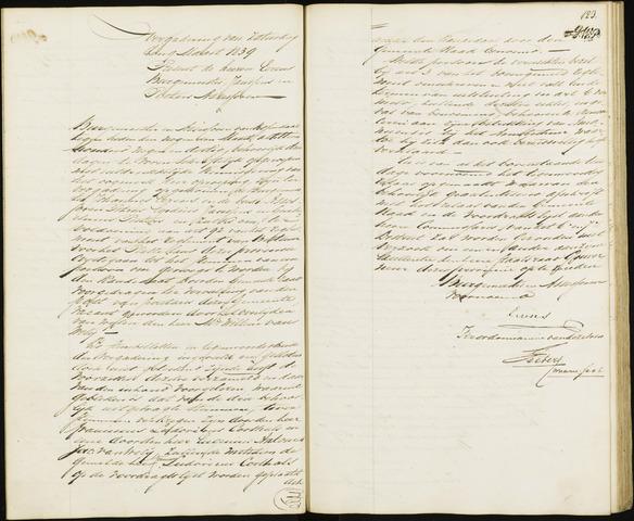 Roosendaal: Notulen van burgemeester en assessoren, 1827-1851 1839