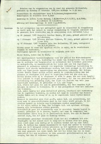 Willemstad: Notulen gemeenteraad, 1927-1995 1968-01-01