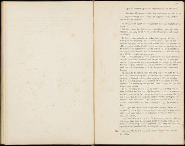 Hoeven: Notulen gemeenteraad, 1928-1996 1934-01-01